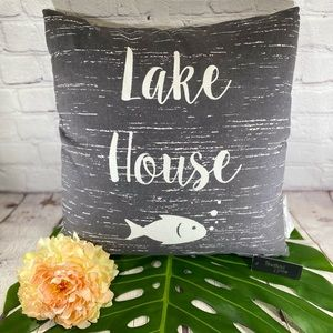 NWT! Sheffield Home Lake House Pillow